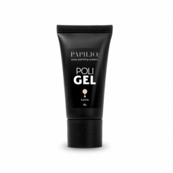 Gél na nechty - polygel - acryl gel 30ml - latte
