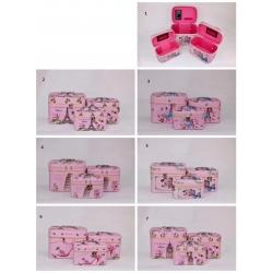 Set 3 ks kozmetických kufríkov - cena za set