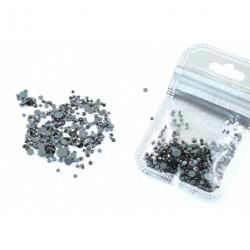 Ozdoby na nechty - kamene- sivé