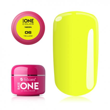 Gél na nechty - neon yellow - 6